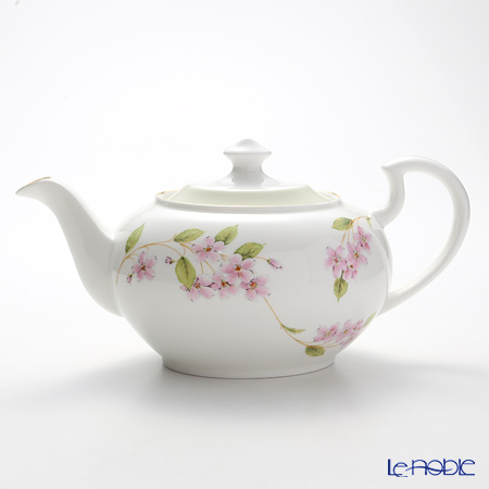 Aynsley Cherry Blossom Green Band Teapot 1.1 ltr