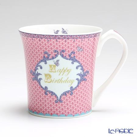 エインズレイ Loved Ones Collectionマグ Happy Birthday Pink
