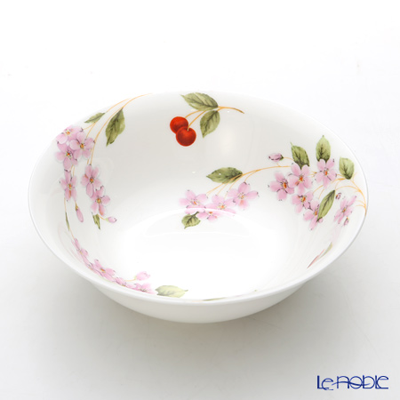 Aynsley 'Cherry Blossom Happiness' Oatmeal Bowl 16.5cm