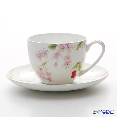 Aynsley Cherry Blossom Happiness Tea Cup & Saucer
