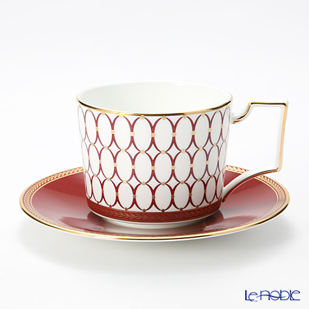 Wedgwood Renaissance Red Teacup and Saucer