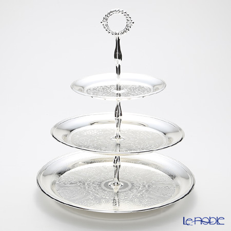 Queen Anne / Silver Plated '0/6075' 3 Tier Cake Stand H37cm