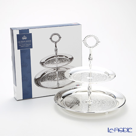 Queen Anne / Silver Plated '0/6074' 2 Tier Cake Stand H26cm