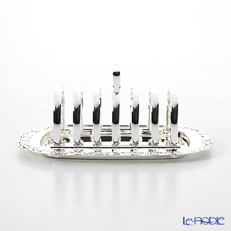 Queen Anne / Silver Plated '0/5888/2 Floral base' Toast Rack