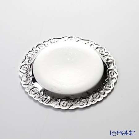 Queen Anne / Silver Plated '0/5896/2' Coaster 9.5cm (set of 6 with holder)