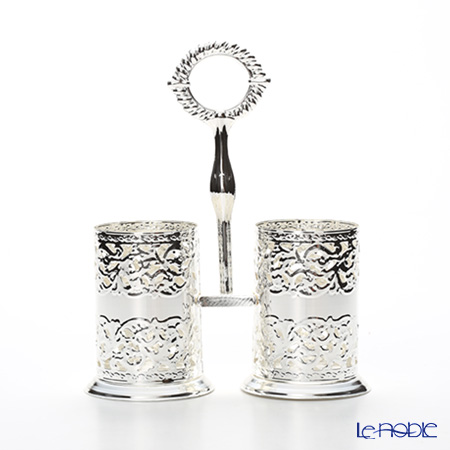 Queen Anne / Silver Plated '0/5966' Double Cutlery Holder
