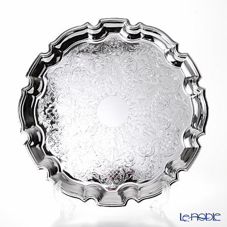 クイーン アン QUEEN ANNE(イギリス製銀メッキ) チッペンデールトレイ L 31.5cm 0/6180