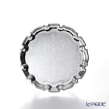 クイーン アン QUEEN ANNE(イギリス製銀メッキ) チッペンデールトレイ S 18cm 0/6182