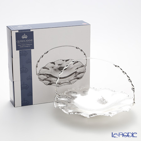 Queen Anne / Silver Plated '0/6373' Wavy Edge Dish with handle 23.5cm