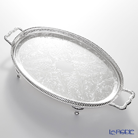 Queen Anne Oval gallery tray with handles/legs 0/6333
