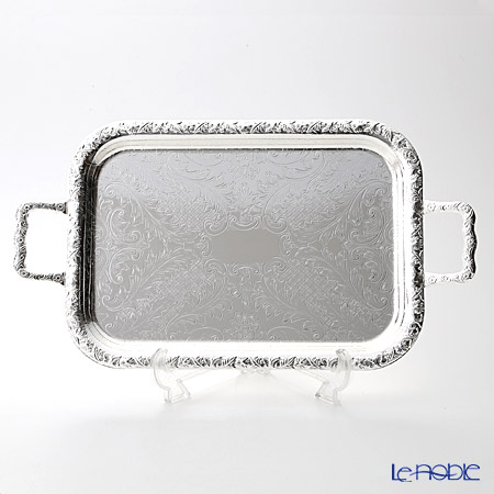 Queen Anne / Silver Plated '0/6224' Oblong Tray with handles 44x24cm (S)