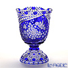 Meissen Crystal 'Flower' Blue F2517/EO314/28B Pedestal Vase H28cm