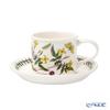 Portmeirion 'Botanic Garden - Yellow Jasmine' Drum Shape Tea Cup & Saucer 200ml