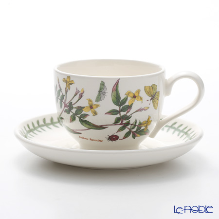 Portmeirion Botanic Garden Teacup and Saucer (T), Yellow Jasmine