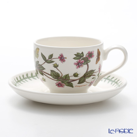 Portmeirion Botanic Garden Teacup and Saucer (T), Pimpernel