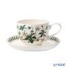 Portmeirion 'Botanic Garden - Cinquefoil' Footed Breakfast Cup & Saucer 280ml