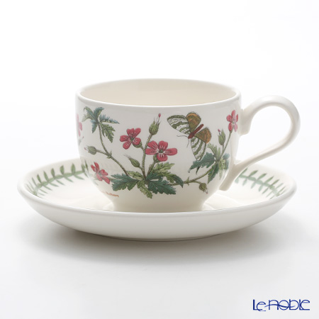 Portmeirion Botanic Garden Teacup and Saucer (T), Herb Robert