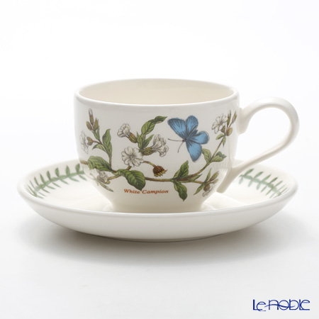 Portmeirion Botanic Garden Teacup and Saucer (T), White Campion