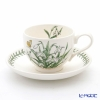 Portmeirion Botanic Garden Flower of the Month January Teacup and Saucer, Snowdrop