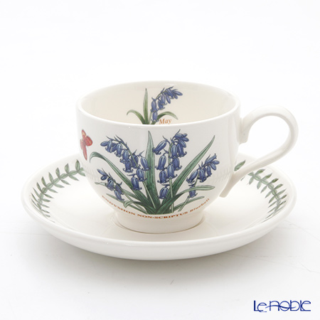 Portmeirion Botanic Garden Flower of the Month May Teacup and Saucer, Bluebell