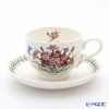 Portmeirion Botanic Garden Flower of the Month July Teacup and Saucer, Pinks