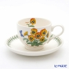 Portmeirion Botanic Garden Flower of the Month August Teacup and Saucer, Pansy