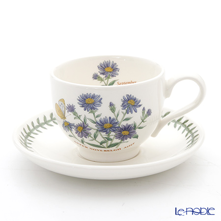 Portmeirion Botanic Garden Flower of the Month September Teacup and Saucer, Aster