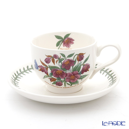 Portmeirion Botanic Garden Flower of the Month December Teacup and Saucer, Hellebore