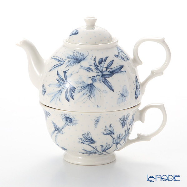 Portmeirion 'Botanic Blue' Tea for One (Cup & Pot)