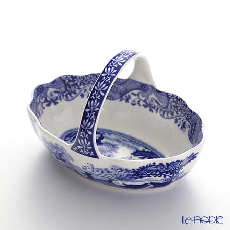 Spode Blue Italian Handled Basket 15 cm