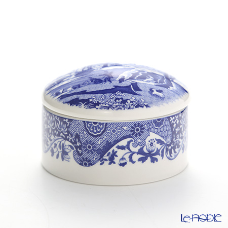 Spode Blue Italian Trinket Box 8 cm