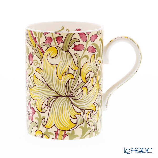 Royal Worcester Morris and Co for Royal Worcester Golden Lily Olive and Russet Mug