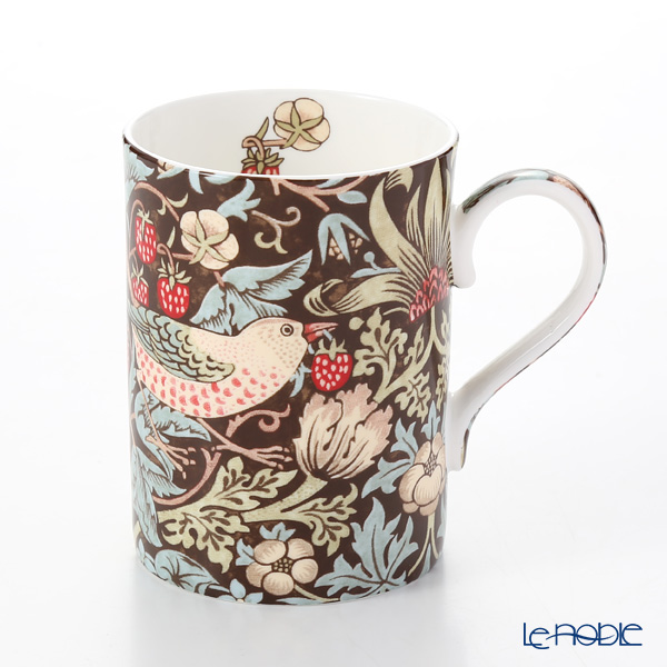 Royal Worcester Morris and Co for Royal Worcester Strawberry Thief Chocolate Slate Fine Bone China Mug