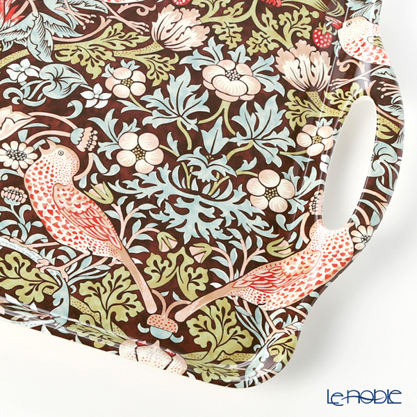 Strawberry thief by William Morris Pimpernel (Brown) Large tray 48 x 29.5 cm