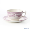 Spode 'Delamere Bouquet' Purple Tea Cup & Saucer 200ml