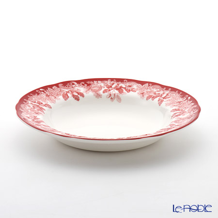 Spode 'Winter's Scene' Red Soup Plate 23cm