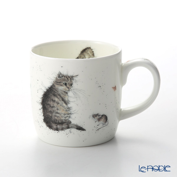 Royal Worcester 'Wrendale' Cat and Mouse Mug 330ml