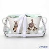 Pimpernel lendale Mug 2pcs (parent of duck and rabbit) & tray set