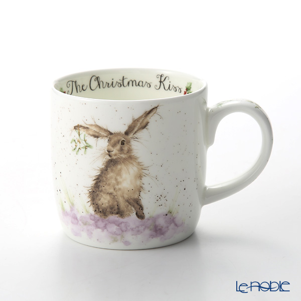 Royal Worcester Wrendale The Christmas Kiss Fine Bone China Mug