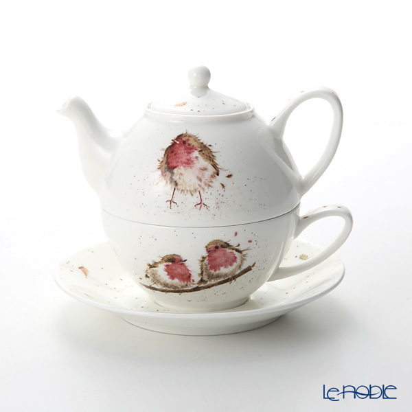 Royal Worcester 'Wrendale' Garden Friend (Robin / Bird) Tea for One / Cup & Saucer & Pot