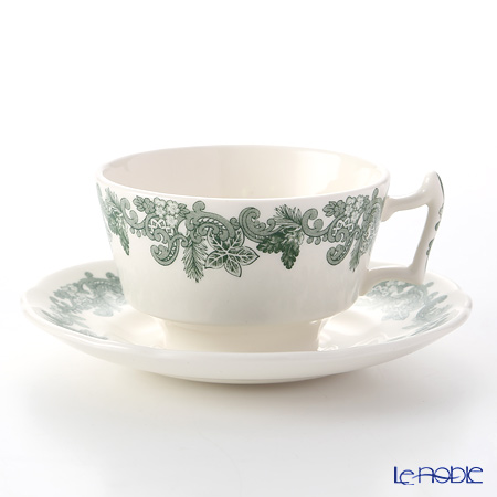 Spode Ruskin Wreath Tea Cup & Saucer