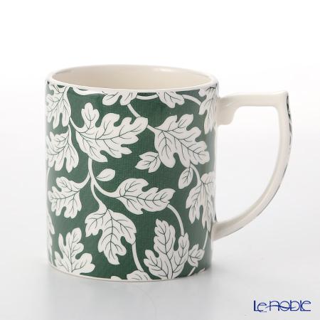 Spode 'Ruskin House - Oak Leaf' Green Mug 250ml