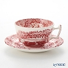 Spode 'Cranberry Italian' Red Tea Cup & Saucer 200ml
