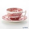 Spode Cranberry Italian Tea Cup & Saucer