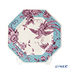 Spode 'Kingsley' Teal Blue & Purple Octagonal Plate 24.5cm