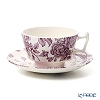 Spode 'Kingsley' White & Purple Tea Cup & Saucer 200ml