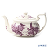 Spode 'Kingsley' White & Purple Tea Pot 1100ml