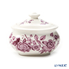 Spode 'Kingsley' White & Purple Sugar Box 250ml
