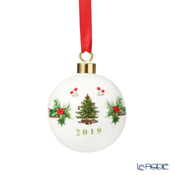 スポード クリスマスツリー オーナメント アニュアルボール 2019W