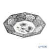 Spode 'Heritage - Flora (Flower)' Black Octagonal Plate 36cm